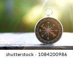conceptual of compass  | Shutterstock . vector #1084200986