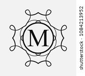 vintage ornamental monogram.... | Shutterstock .eps vector #1084213952