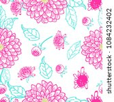 Summer Flowers Dahlia Pattern