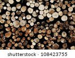 Wooden Background   Stack Of...