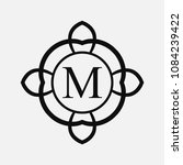 vintage ornamental monogram.... | Shutterstock .eps vector #1084239422