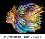 face of color series. abstract... | Shutterstock . vector #1084241336