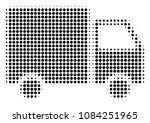 pixelated black shipment van...   Shutterstock .eps vector #1084251965