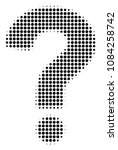 dotted black question icon.... | Shutterstock .eps vector #1084258742
