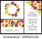 invitation with floral... | Shutterstock .eps vector #1084261106