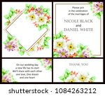 romantic invitation. wedding ... | Shutterstock .eps vector #1084263212