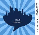 hello frankfurt  germany | Shutterstock .eps vector #1084265078