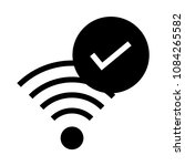 wifi check vector glyphs icon