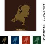 map of netherlands | Shutterstock .eps vector #1084267595