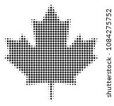 pixelated black maple leaf icon.... | Shutterstock .eps vector #1084275752