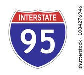 us interstate 95 highway sign... | Shutterstock .eps vector #1084276946