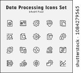 thin line icons set of data... | Shutterstock .eps vector #1084279565