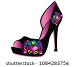 woman shoes with heart | Shutterstock .eps vector #1084283756