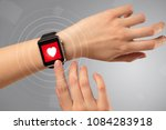 naked female hand with... | Shutterstock . vector #1084283918