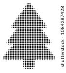 pixelated black fir tree icon.... | Shutterstock .eps vector #1084287428
