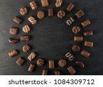 beautiful creative chocolate... | Shutterstock . vector #1084309712