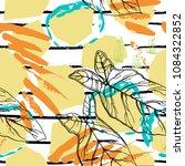 tropical  stripe  animal motif. ... | Shutterstock .eps vector #1084322852