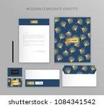 corporate identity business set.... | Shutterstock .eps vector #1084341542