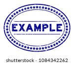 grunge blue example oval rubber ... | Shutterstock .eps vector #1084342262