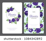 butterfly pea flowers and leaf... | Shutterstock .eps vector #1084342892