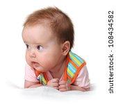 portrait of baby girl | Shutterstock . vector #108434582