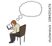 vector of man reading book | Shutterstock .eps vector #1084351676