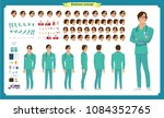 front  side  back view animated ... | Shutterstock .eps vector #1084352765