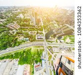 aerial city view with... | Shutterstock . vector #1084353362