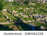 Small photo of Columns of Hippo Regius, a Phoenician, Berber and Roman city, Annaba Province, Algeria.