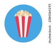 simple popcorn flat icon... | Shutterstock .eps vector #1084364195