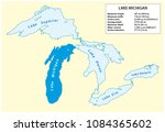 information vector map of lake... | Shutterstock .eps vector #1084365602