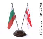 bulgaria and georgia  two table ... | Shutterstock . vector #1084369718
