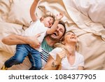 happy family having fun in the... | Shutterstock . vector #1084377905