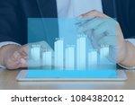 businessman on digital stock... | Shutterstock . vector #1084382012