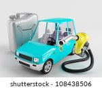 small car next to the canister... | Shutterstock . vector #108438506