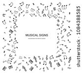 hand drawn music notes vector... | Shutterstock .eps vector #1084388585