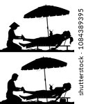 editable vector silhouettes of... | Shutterstock .eps vector #1084389395