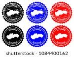 slovakia   rubber stamp  ... | Shutterstock .eps vector #1084400162