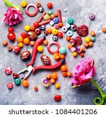 beads  colorful beads for... | Shutterstock . vector #1084401206