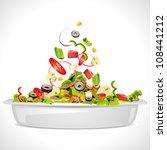 illustration of bowl full of... | Shutterstock .eps vector #108441212