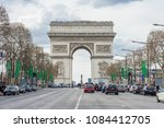 paris  france   april 07  2018  ... | Shutterstock . vector #1084412705