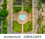 over the public park with... | Shutterstock . vector #1084412855
