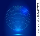 three dimensional spheres... | Shutterstock .eps vector #1084417772