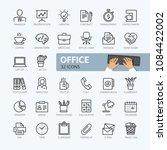 office   minimal thin line web...   Shutterstock .eps vector #1084422002