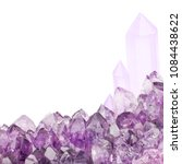 macro photo of lilac amethyst... | Shutterstock . vector #1084438622