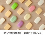 colorful solid soap. view from... | Shutterstock . vector #1084440728