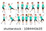 badminton man player male... | Shutterstock .eps vector #1084443635