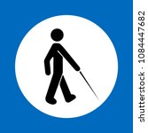 blind walking man with a stick... | Shutterstock .eps vector #1084447682