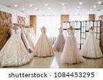 beautiful wedding dresses ... | Shutterstock . vector #1084453295