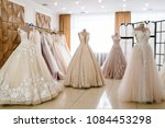 beautiful wedding dresses ... | Shutterstock . vector #1084453298